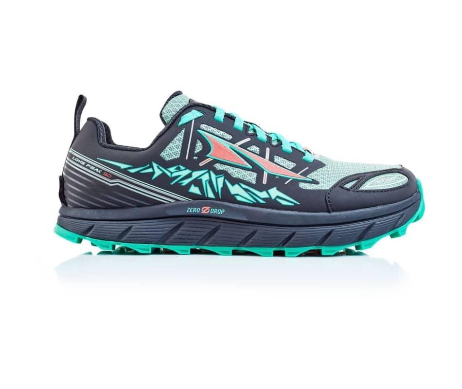 Women/'s Altra Footwear Lone Peak 3 Neo Zero Drop Trail Running Shoe Black//Mint