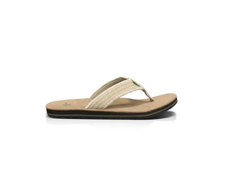 380d17805b7a Sanuk Men s Fraid Not Flip Flops Natural - 10
