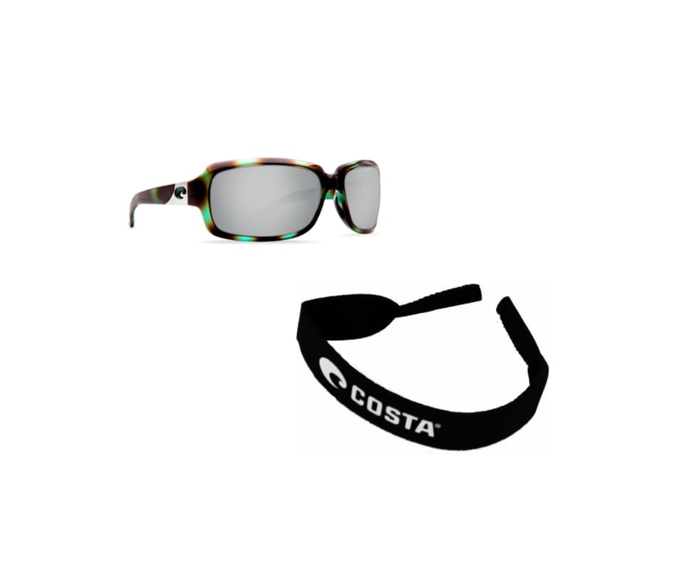a57cd9cf70 Costa Del Mar Isabela - With FREE Neoprene Retainer Shiny Seagrass Silver  Mirror