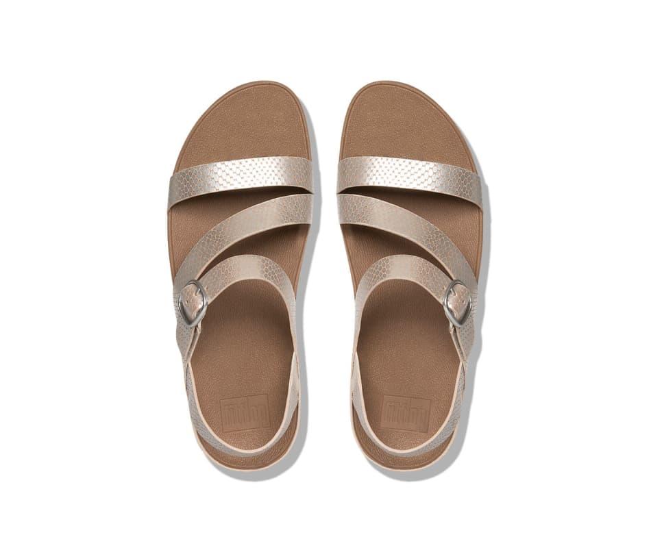 f79c20f511f4 Fitflop Women s The Skinny Z-Cross Sandals - Silver Snake - 10
