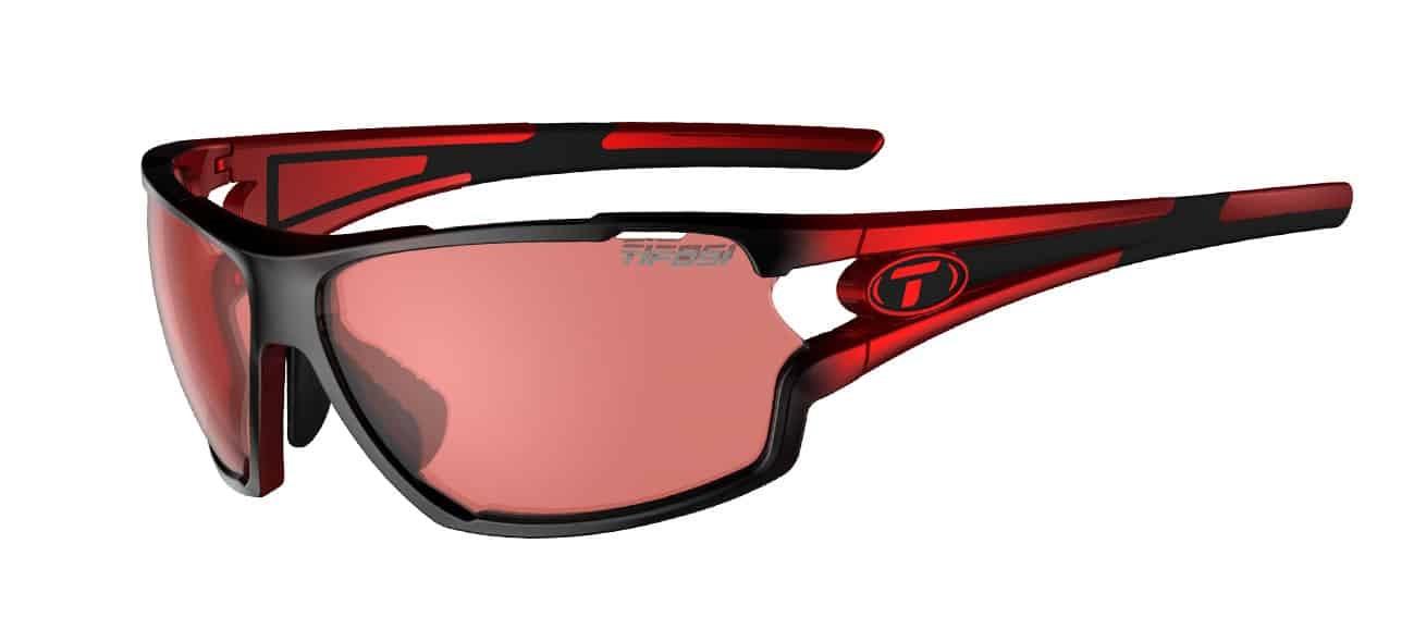 Tifosi Amok Sunglasses Race Red w/ High Speed Red Fototec