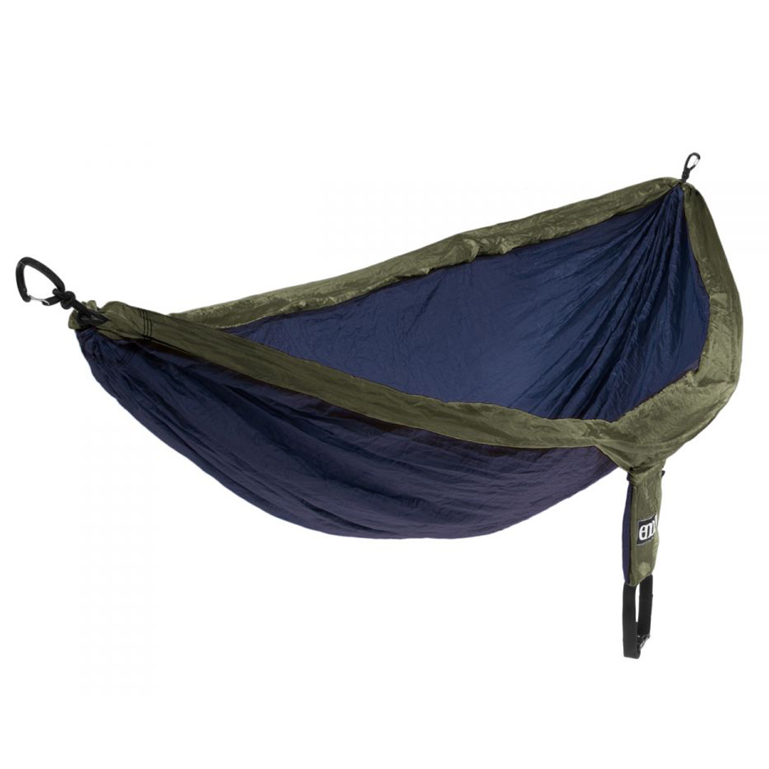 eno double nest hammock navy olive with indoor hanging kit. Black Bedroom Furniture Sets. Home Design Ideas