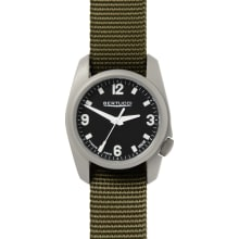 Men's A-1T Titanium - Black / Patrol Olive D-Type Nylon Band