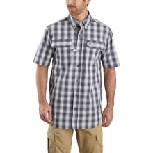 Men's Tw258 Force Relaxed Fit Ss Plaid Shirt