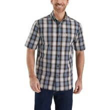 Men's Essential Plaid Button Down Ss Shirt