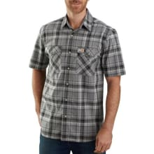 Men's Tw171 Rf Relaxed Fit Ss Plaid Shirt