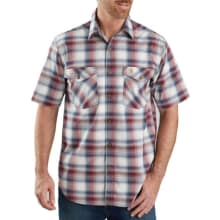 Men's Tw173 Rf Relaxed Fit Ss Plaid Shirt