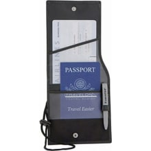 RFID Blocking ID and Boarding Pass Holder - Black