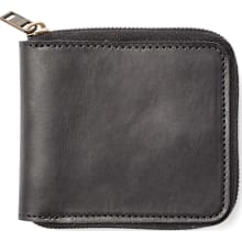 Dawson Leather Zip Wallet - Black