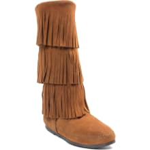 Women's Calf Hi 3-layer Fringe Boots
