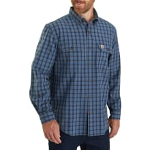 Men's Original Fit Chambray Long-sleeve Plaid Shirt