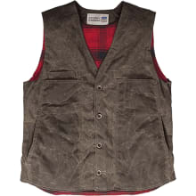 The Waxed Button Vest With Lining