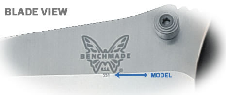 Benchmade Knife Model Number on Blade