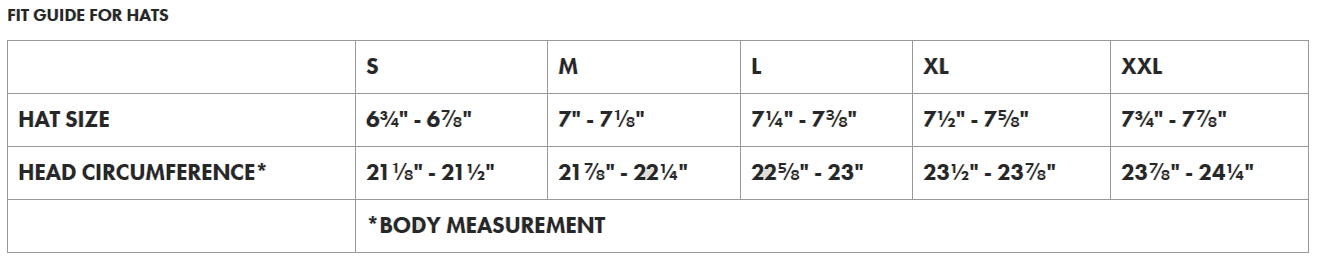 Filson Men's Pants Sizing Chart