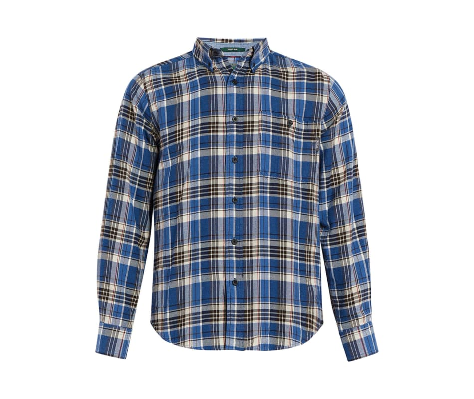 Men's Trout Run Flannel Shirt - Modern - Alpine Blue - L