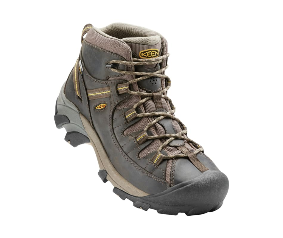 1f58d23f536 Keen Men s Targhee II Mid WP - Black Olive Yellow - 13