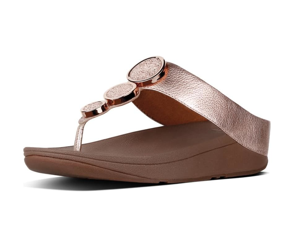 c91ebd51380279 Fitflop Women s Halo Toe Thong Sandals - Rose Gold - 7