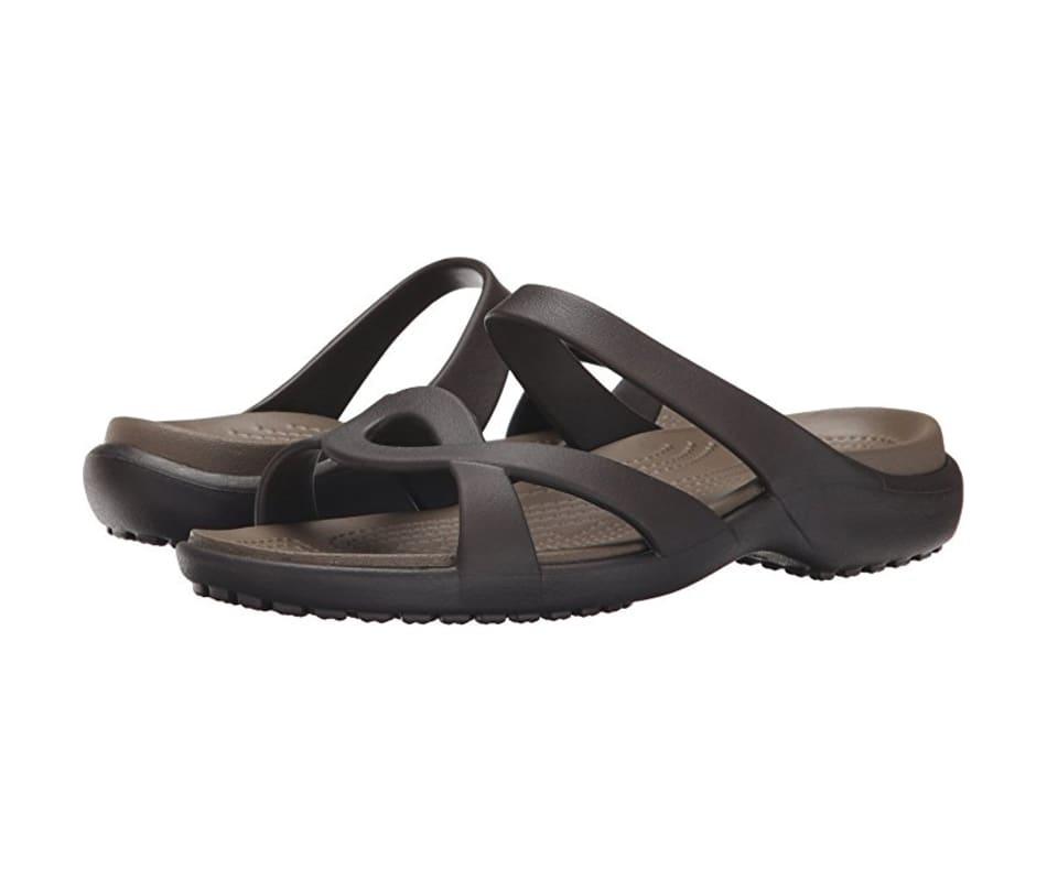 4650c4186 Crocs Women s Meleen Twist Sandal Espresso Walnut - W9