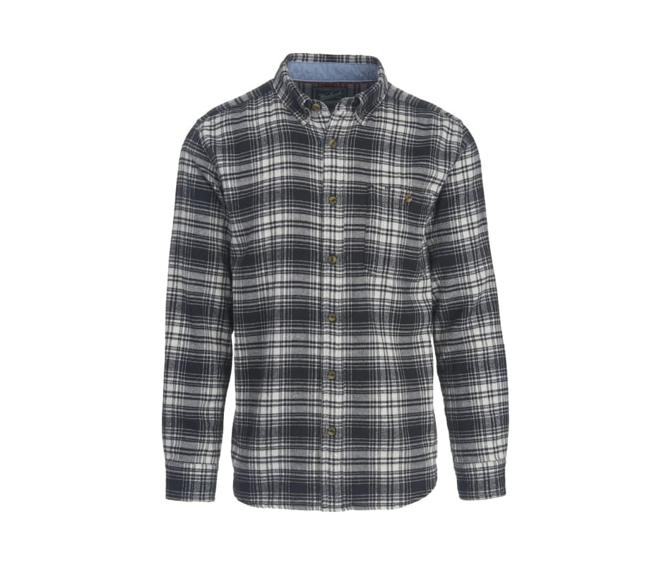 Men's Trout Run Flannel Shirt - Modern - Black Hunt Plaid - S