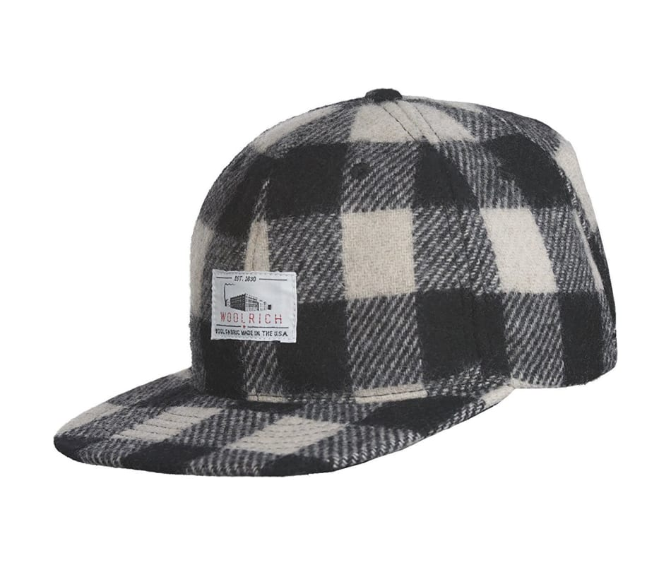 Men's Wool Baseball Cap Buffalo Check Plaid
