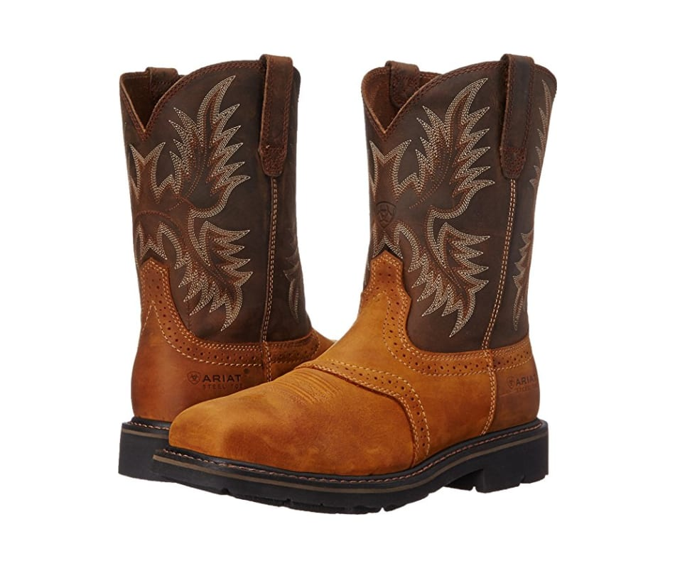 high fashion various design best supplier Mens Sierra Wide Square Toe Steel Toe Work Boot