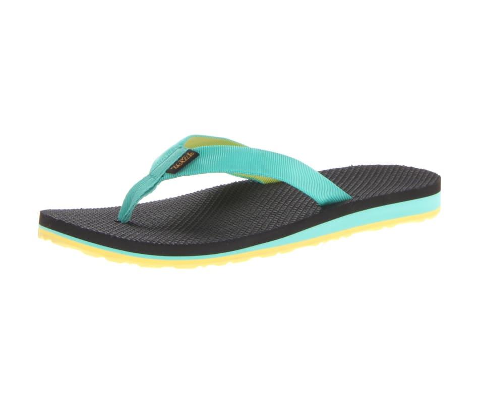 83a953345 Teva Women s Original Flip Sandals Aqua Green   Yellow - 10