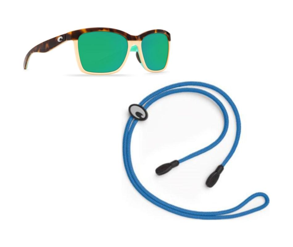 6740131a84970 Women s Anna Sunglasses - Shiny Retro Tort Cream Mint - Green Mirror 580P