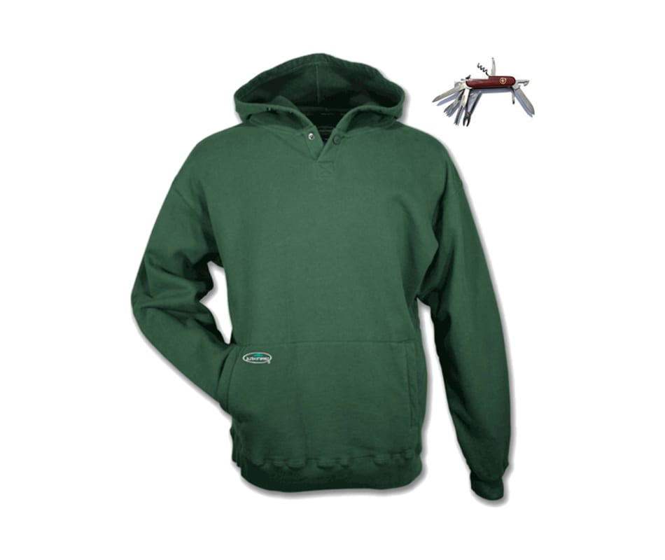 1e10b0fe6699 Arborwear Double Thick Pullover Hoodie Multitool Forest Green - 2XL