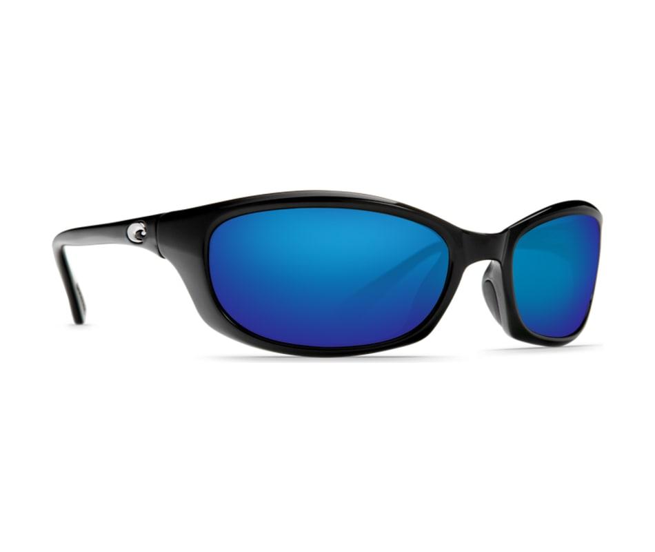 b0e3e9da8515 Costa Del Mar Harpoon Sunglasses Shiny Black - Blue Mirror 580P