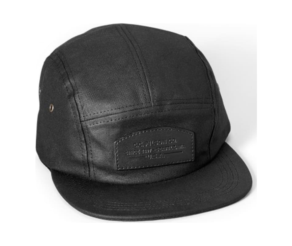 3020a69de31 Filson Oil Tin Cloth 5-Panel Cap Black - One Size