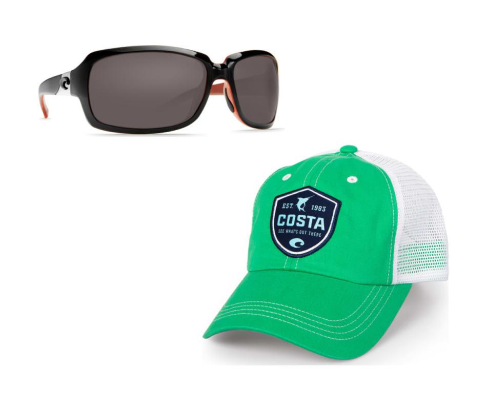 e0da017164d9 Costa Del Mar Women's Isabela Sunglasses - Black/Coral - Silver Mirror 580P