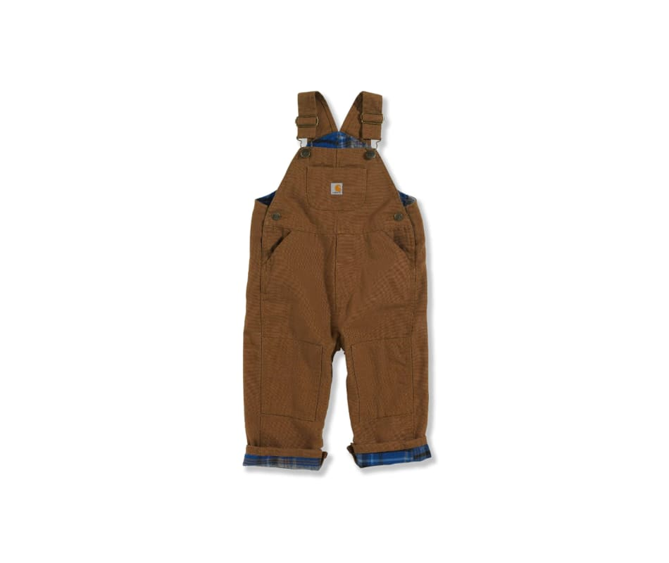 Kid's Canvas Bib Overall/ Flannel Lined