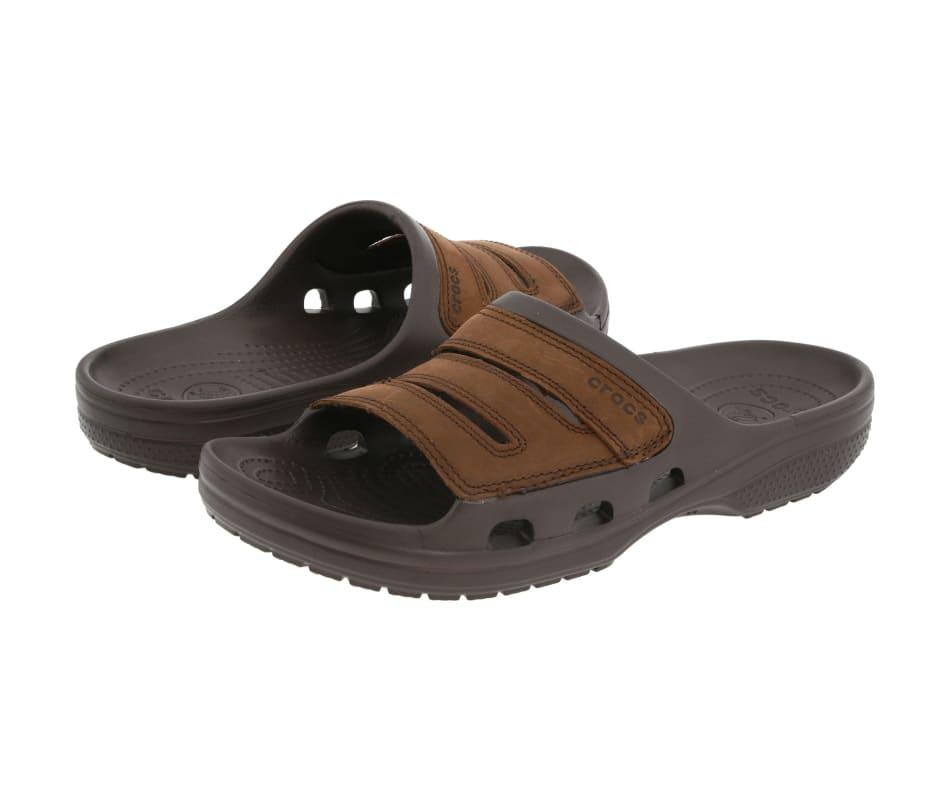 eef139d27fb Crocs Yukon Slide Mens Sandals Espresso - 13