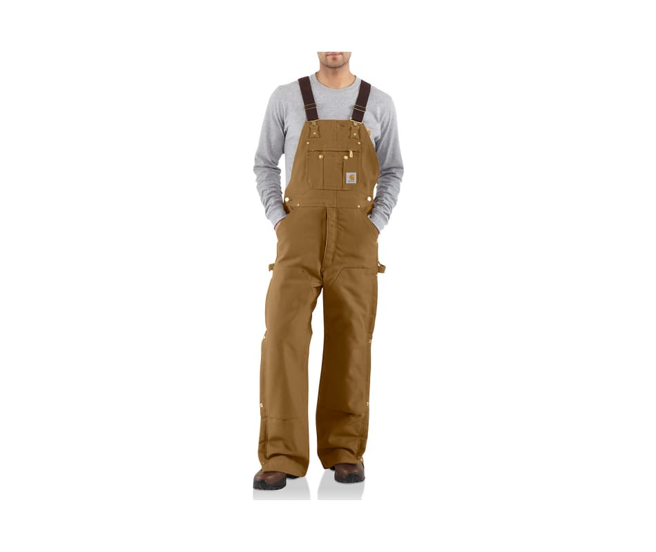 Quilt-Lined Zip-to-Thigh bib Overalls