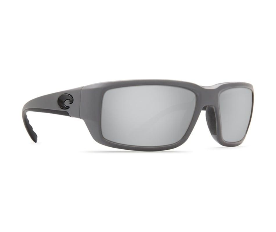 2b9c56e51a Costa Del Mar Men s Fantail Sunglasses - Matte Gray - Silver Mirror ...