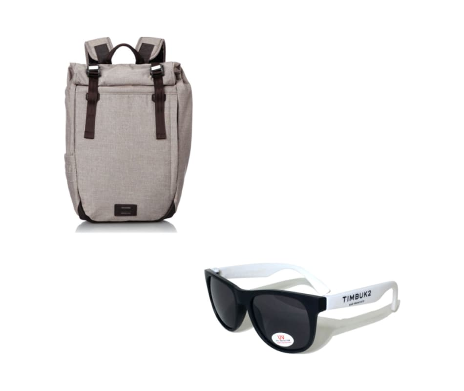Moto Laptop Backpack with FREE Sunglasses - Tan