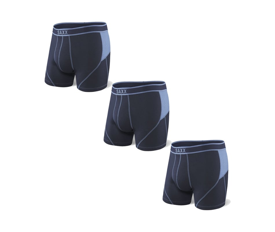 7b5653b035d Saxx Underwear Co Men s Kinetic Boxer - Navy Slate - S 3 Pack