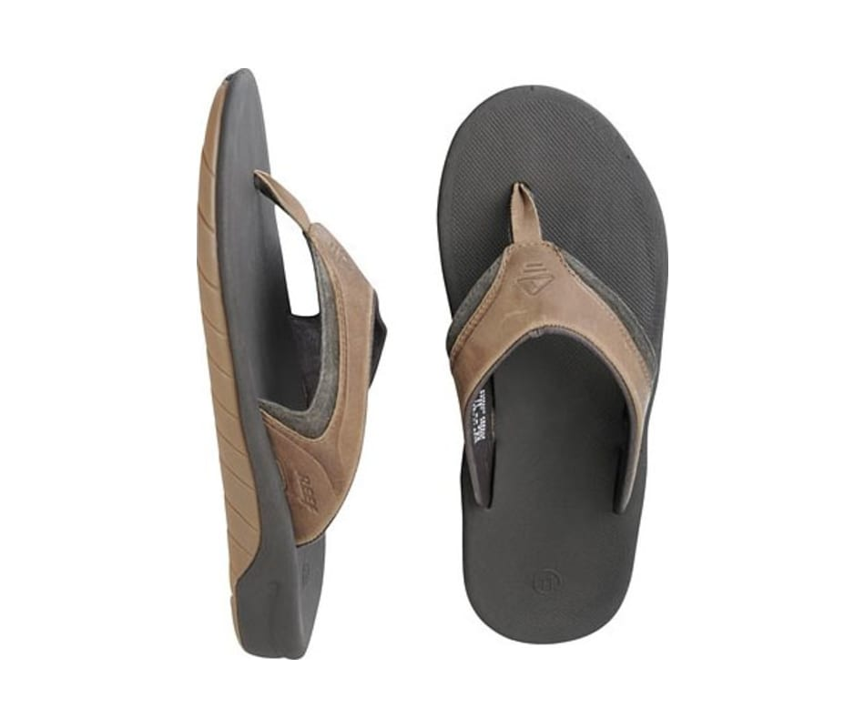 6b15dac7eae6 Reef Men s Leather Slap II Sandal Dark Brown - 10