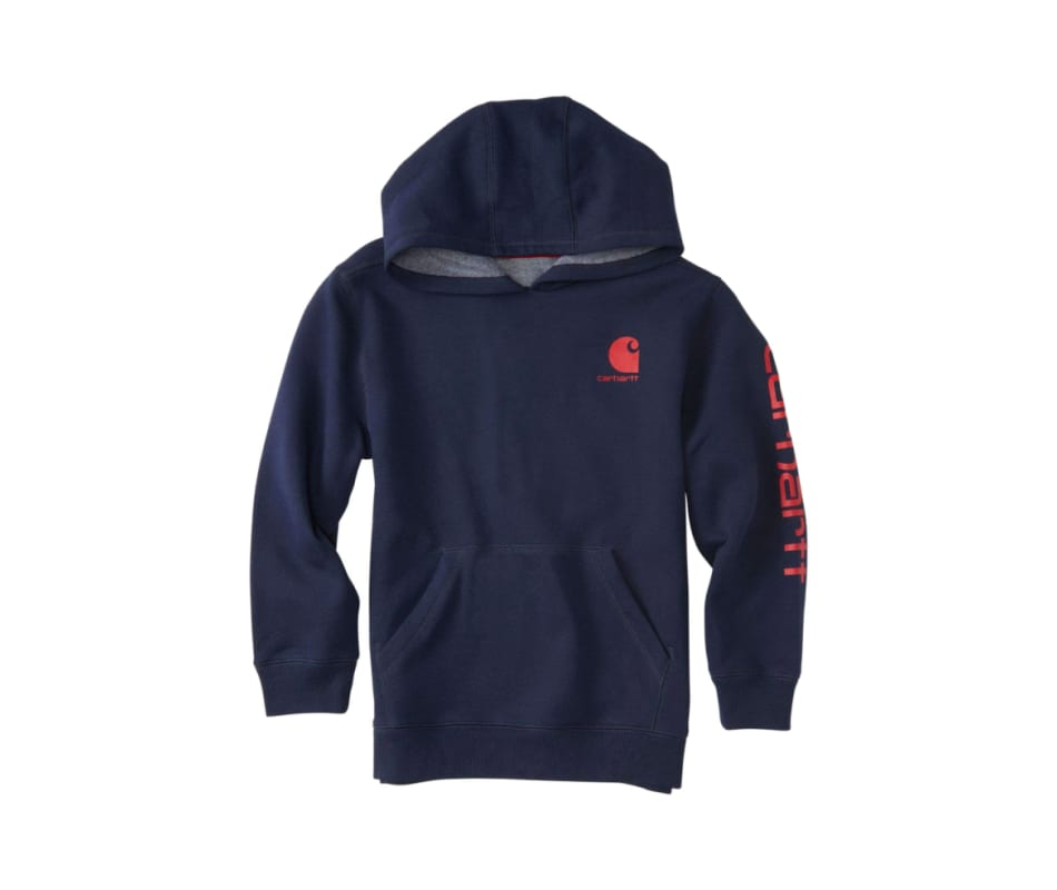 Boy's Long Sleeve Pullover Fleece With Hood
