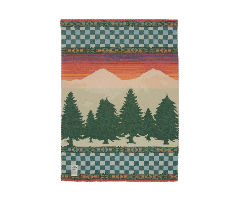 Forest Ridge Jacquard Wool Blanket (46