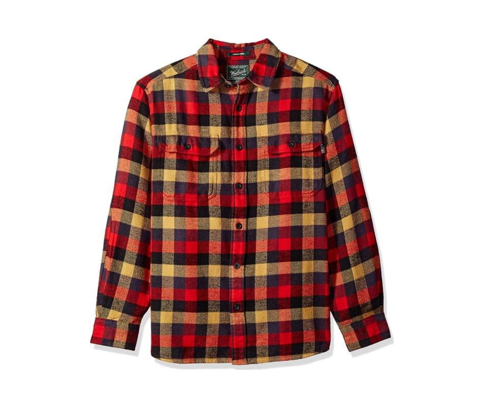 fcb469059 Woolrich Men's Oxbow Bend Flannel Shirt - Red Multi - S
