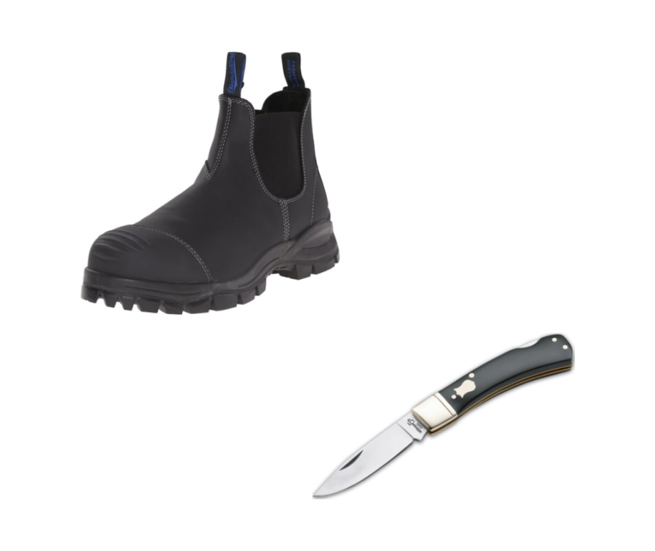 Mens Work/Safety Steel Toe (990) - With FREE Pocke