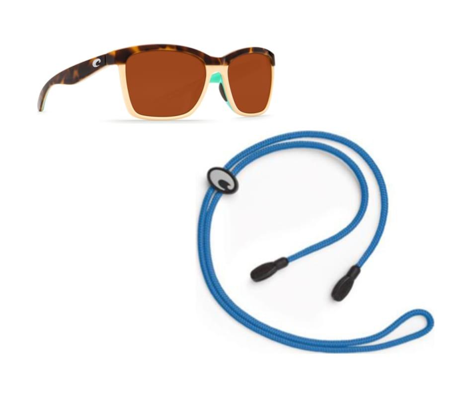 30bc401b0df46 Costa Del Mar Women s Anaa Sunglasses - Shiny Retro Tort Cream Mint