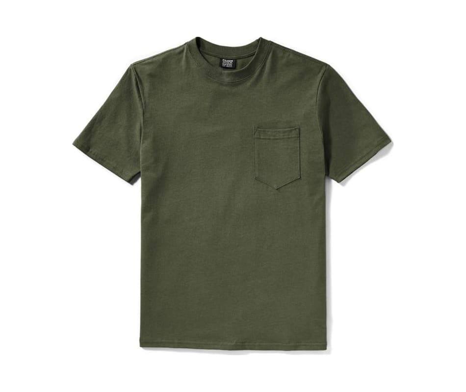 Men's S/S Outfitter Solid One Pocket T-Shirt