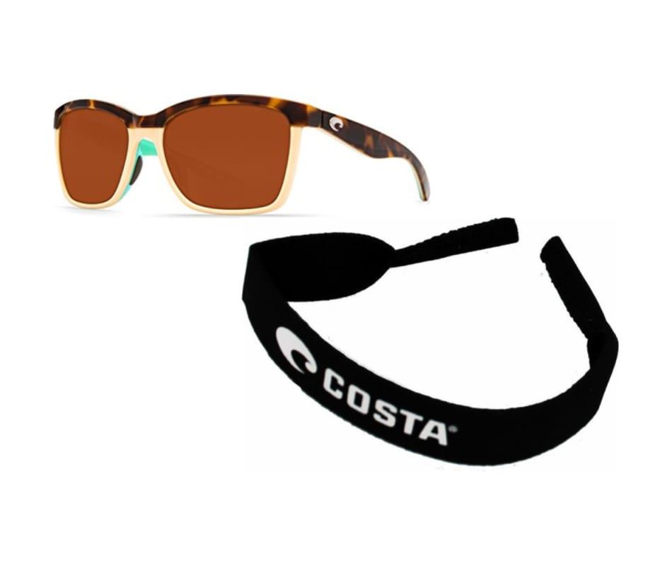 779917c2b92d1 Costa Del Mar Women s Anna Sunglasses - Shiny Retro Tort Cream Mint ...