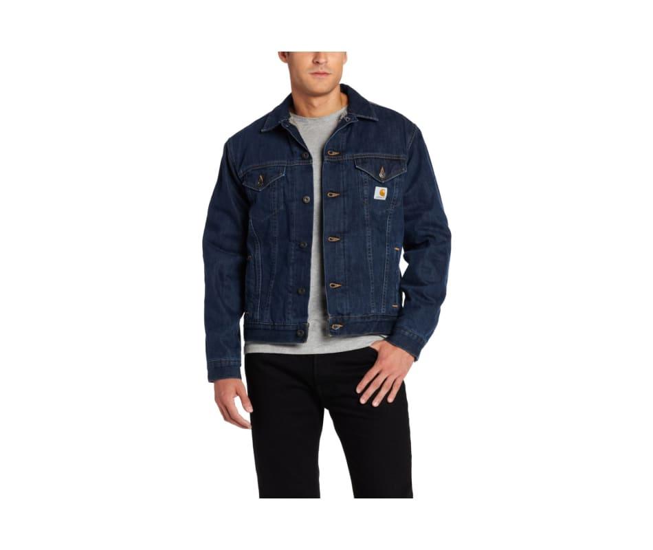 2e85242963 Carhartt Men's Sherpa Lined Denim Jean Jacket Authentic Blue - XXL