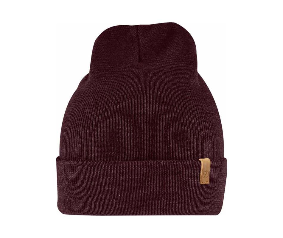Fjallraven Classic Knit Hat - Dark Garnet - OneSize 95cab76fee8
