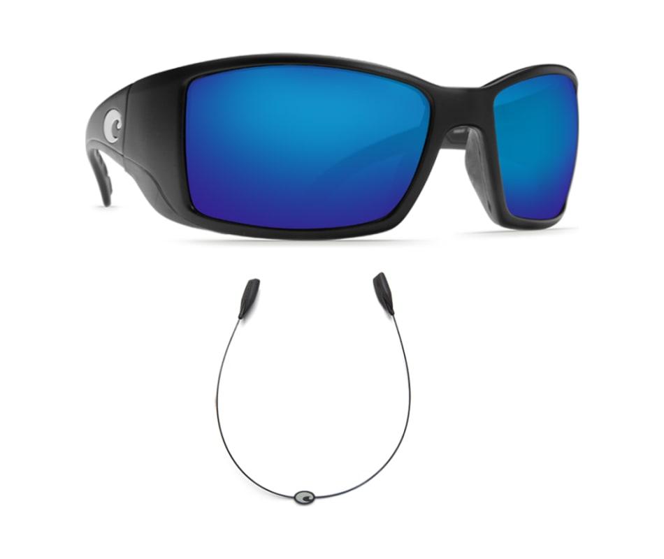 74ff7b06944a3 Costa BlackFin Black 400G Blue Mirror - With FREE C-line Retainer