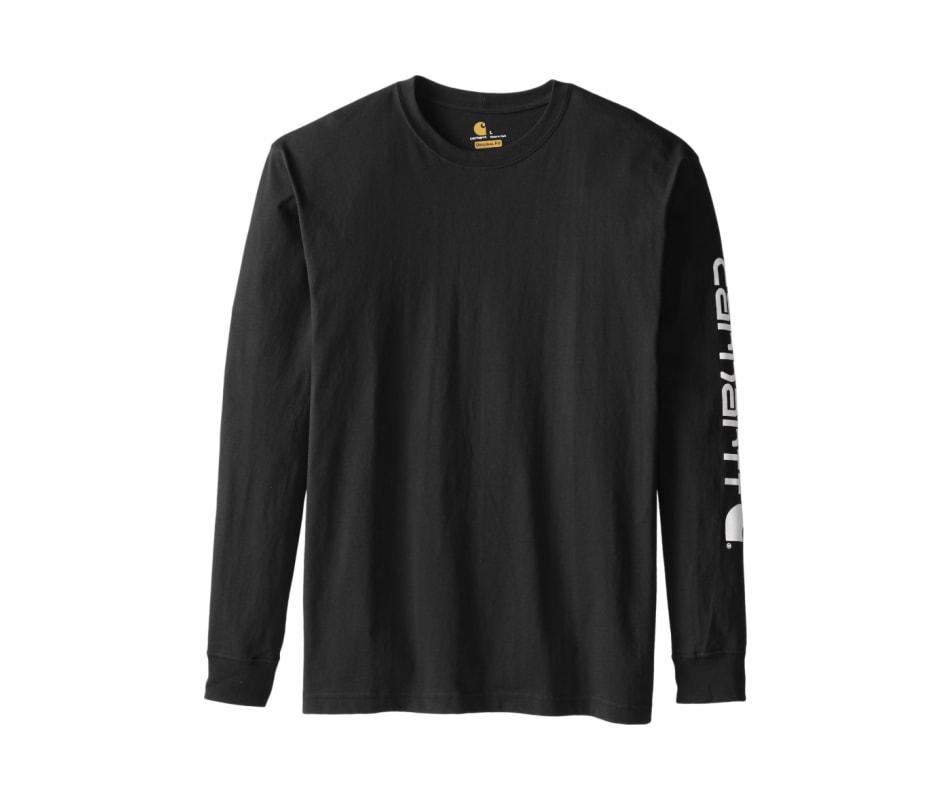 1cfab635 Carhartt K231 Long-Sleeve Graphic Logo T-Shirt - Black - 3Xl