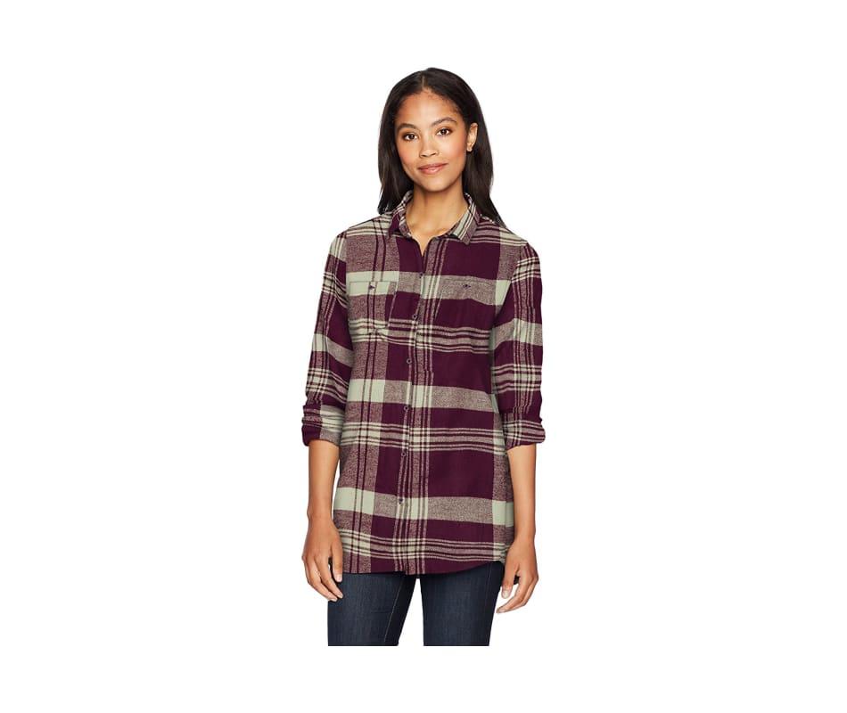 Pemberton Boyfriend Tunic Flannel Shirt